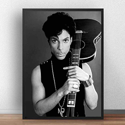 Prince Nelson Poster Schwarz Weiß Rockmusik Sänger Star Art Malerei Leinwand Wandbilder Für Wohnzimmer Wohnkultur 40 * 60cm Ohne Rahmen