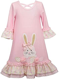 Bonnie Jean Girl's Easter Dress - Pink Bunny Dress for Toddler and Little Girls