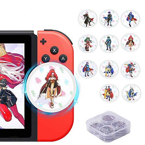 Fire Emblem Three Houses NFC Tag Playing Cards for Switch / 3DS / Wii U- 11 PCS Round Mini Cards with Crystal Case