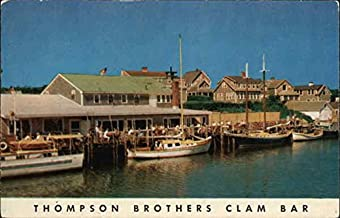 Thompson Brothers Clam Bar Harwich Port, Massachusetts Original Vintage Postcard