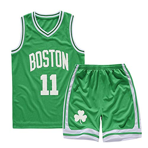 WTBFBY Boys & Girls Basketball Fans T Shirt Outfit 2-Piece Performance Tank Top Jersey and Shorts Sets No.11 Green M