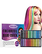 Hair Chalk, Hair Chalk for Girls, Hair Chalk Pens, Temporary Hair Chalk, Washable Hair Color, Perfect DIY Gifts for Girls on Birthday Party, Cosplay, Halloween and Christmas, 24Colors