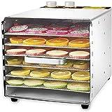 XINTONGSPP Temperatura Regolabile 33 a 80 ° C, asciugatrice Cibo per Frutta Fresca, carni Cibo per Cani asciugatrice, 6 Vassoio di Frutta Domestica disidratatore