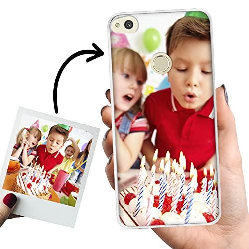 Phone Case Trends Funda Huawei P8 Lite 2017 Personalizada con tu Foto o Texto – Carcasa Móvil personalizable de Gel Flexible - Funda Transparente, Antigolpes y de Silicona - Impresión Directa en Funda