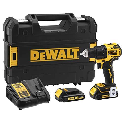 DeWalt DCD708S2T-QW DCD708S2T-QW-Taladro Atornillador sin escobillas XR 18V 13mm 65Nm con 2 baterías Li-Ion 1,5Ah y maletín TSTAK, 18 V