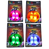 Lify Waterproof Luminous LED Shoelaces Fashion Light Up Casual Sneaker Shoe Laces Disco Party Night Glowing Shoe Strings - Blue, Orange, Pink & Green - 4 Pair