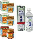 2 Jars of Tiger Balm White Ointment 30gm/Jar + Tiger Balm Red Ointment 30gm/Jar + Kwan Loong Medicated Oil 57ml (Largest Size!)