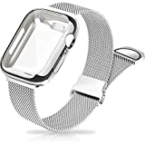Metal Mesh Magnetic Bands Compatible for Apple Watch Band with Case, 40mm Stainless Steel Milanese Loop Replacement Strap for Women Men Compatible with iWatch Series SE/6/5/4,Silver