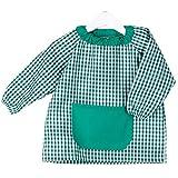 KLOTTZ - Babi poncho sin botones guardería. Bata escolar cómoda de vestir perfecta para comedores y colegios. bebé-niños color: VERDE talla: 3