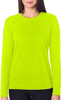 Performance Womens 4.5 oz. Long-Sleeve T-Shirt (G424L) SAFETY GREEN