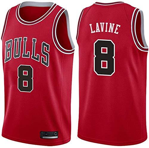 JIMING Bulls No. 8 Lavine Youth Performance Team - Nombres de jugadores y camisetas de color rojo-M