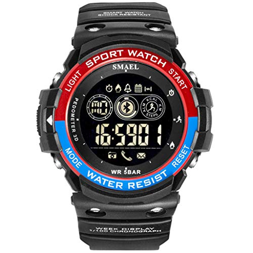 Fghyh Armbanduhr Herren Sport Men Fashion Military Laufen Bluetooth LED Display Digitaluhr(BR)
