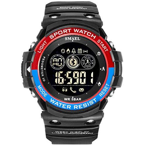 Fghyh Armbanduhr Herren Sport Men Fashion Military Laufen Bluetooth LED Display Digitaluhr(BR)