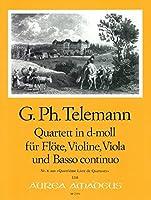 TELEMANN - Cuarteto en Re Mayor (TWV:43/d2) (Partitura/Partes)