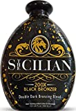The Sicilian 200X Dark Black Bronzer Tanning Lotion – BEST Tanning Lotion For Glowing Skin – Gradual Bronzing & Sunless Self Tanner Lotion – Luxurious Sunless Body Tanning Lotion Nourishes Skin