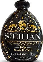 The Sicilian 200X Double Dark Black Bronzer Tanning Lotion 13.5 oz - New 2021 Tan Lotion