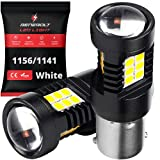 BENEBOLT 1156 LED bulb 3600 Lumens White - 1141 BA15S 7506 P21W Bulb - 10.5W Mega Bright LED Reverse lights DRL - Lawn Mower Tractor - ATV - RV - Glass Projector Lens - Strengthened Aluminum Body -2Pk