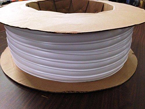 White Vinyl 1 Insert Molding Trim Screw Cover RV Camper Travel Trailer (White, 100 ft)