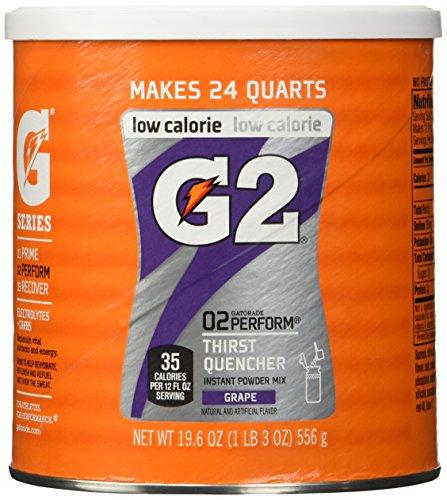 Gatorade Perform G2 02 Perform Thirst Quencher Instant Powder Grape Drink 19.4 Oz. (1 Each)