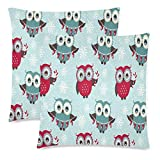 gthytjhv Dekokissenbezug, Animal Cute Owls Covers Decorative Pillow Cover Home Decor Nice Gift Square Indoor Pillowcase Set of 2