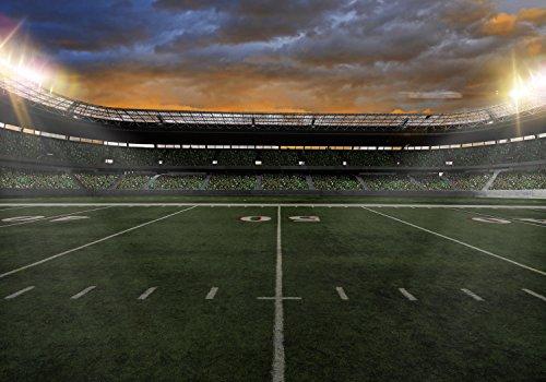 wandmotiv24 Fototapete American Football Stadium S 200 x 140cm - 4 Teile Fototapeten, Wandbild, Motivtapeten, Vlies-Tapeten Sport M0930