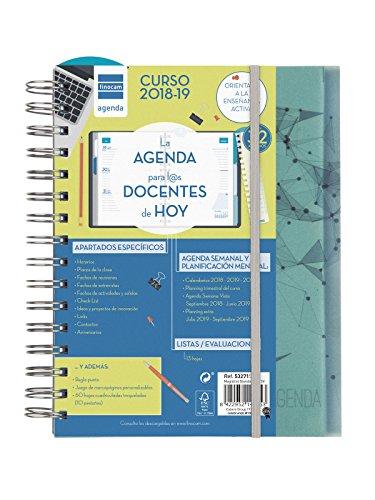 Finocam Magistral Docente - Agenda 2018-2019 semana vista apaisada español, 155 x 215 mm, nodos
