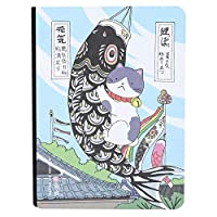 女性のためのかわいいノートブックジャーナルノートブック、ノートブック、猫スタイルのノートブック(Fish banner)