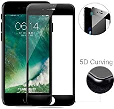 MARKET AFFAIRS 5D Curved Edge 9H Hardness Tempered Glass Protector for Apple iPhone 6/6S (Black)