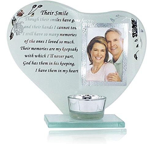 Memory Plaque hun glimlach haar/zijn glimlach kaars fotolijst met gedicht herinnering door BudgetLine
