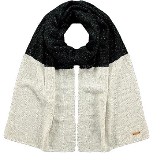 Barts - Meuse Scarf, Sciarpa da donna, bicolore nero e bianco, UNI