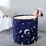 Bañera portátil, espesan la Ronda Ecológico SPA Bañeras con patas plegables remojo tina de baño