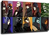 YuHui Naruto Akatsuki - Póster de lienzo y pared, Enmarcado, 16x24inch