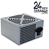 Tecnoware Alimentatore per Office PC ATX Free Silent 500 W, Ventola 12 cm, 2 x SATA, 1 x 24 Poli, 1 x 12 V, 4 Poli, 2 x Molex, 1 x Floppy