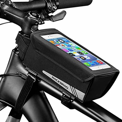 YZX Bolsa Bicicleta, magnético Clamshell Montaña/Carretera Frente de la Bicicleta Haz de Bolsa, Aire Libre Impermeable móvil Pantalla táctil del teléfono del Bolso del Manillar de Ciclo