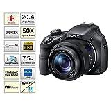 Sony Cybershot DSC-HX400V 20.4MP Digital Camera (Black) with Free Bag