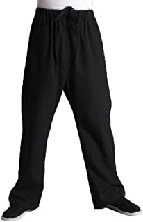 ZooBoo Men's Martial Arts Pants - Chinese Kung Fu Harem Trousers - Cotton