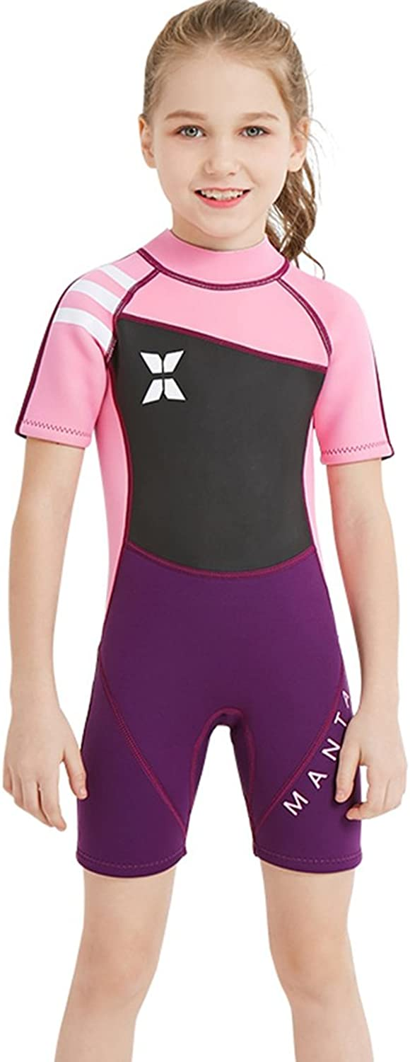 Shorty Wetsuit for Kids 2.5mm Premium Neoprene Suit for Girls and Boys Surfing Swimming Suit