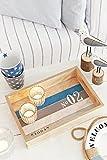 HEITMANN DECO - Holz-Tablett maritim - tolle Tischdeko - Dekoration für Haus und Wohnung - Maritime Deko - 4