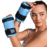 REVIX Wrist Ice Pack Wrap for Instant Hand Pain Relief, Treatment of Carpal Tunnel and Hand Thumb, Hand Support Brace Cold Compress Therapy Refreezable, 2 Packs