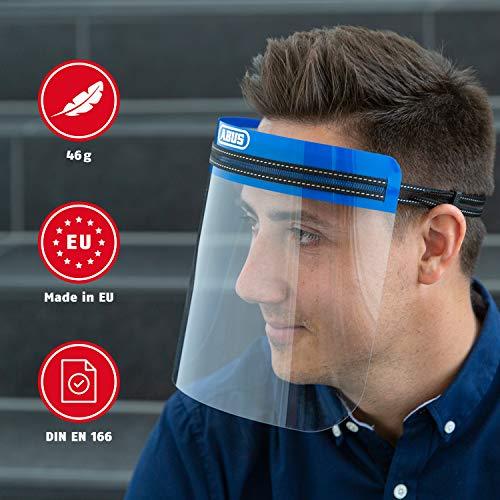 Abus Face Guard Gesichtsschutz mit breitem Visier aus Acrylglas - EN 166 zertifiziert - abwaschbar - geeignet für Brillenträger - 1er Set - 62845