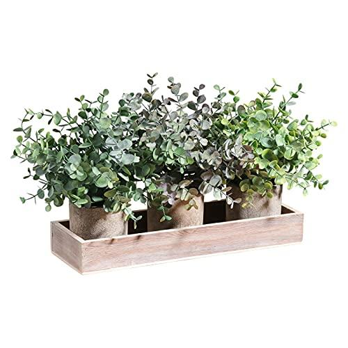 3 macetas de pulpa en macetas set de simulación de escritorio con cilindro de simulación de plantas bonsái,35 x 12 x 18 cm,naranja,verde,morado X base de madera