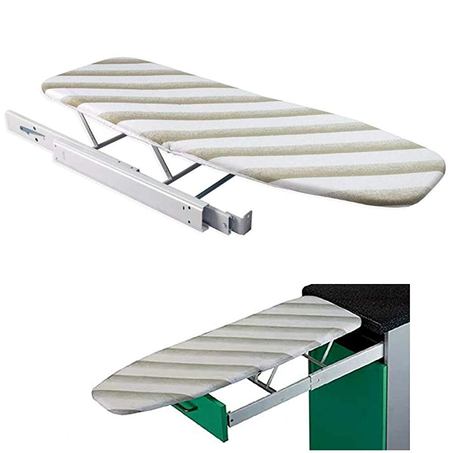 uyoyous Folding &Pull-Out Ironing Board with Cover, Easy to Install in The Cabinet/Closet/Wardrobe for Saving Space