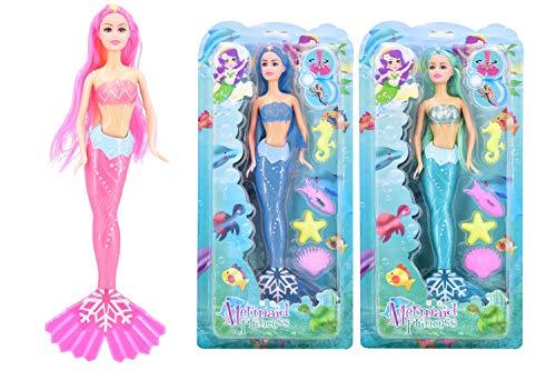 Atemberaubende Little Mermaid Dolls - Prinzessinnen mit Meerestieren - 1 Ausgewählt Bei Random