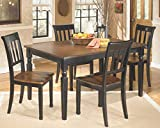 Signature Design by Ashley Owingsville Dining Room Table, Black/Brown...