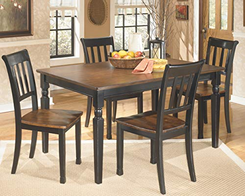 Signature Design by Ashley - Owingsville Rectangular Dining Room Table - Casual Style - Black/Brown