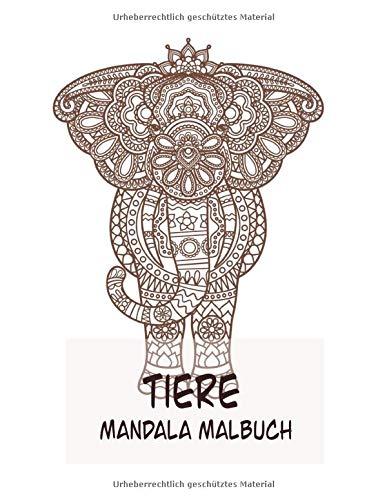 Tiere Mandala Malbuch: Kühle Färbung für Erwachsene mit einem Hund, Bär, Kaninchen und mehr