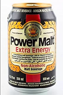 Power Malt Extra Energy Beverage Drink 330ml 10 Pack