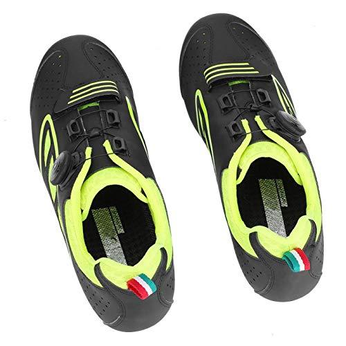 SALUTUYA Men Adult MTB Bike Shoes Anti-shock Protection Teeth Sole,for(green, 45)