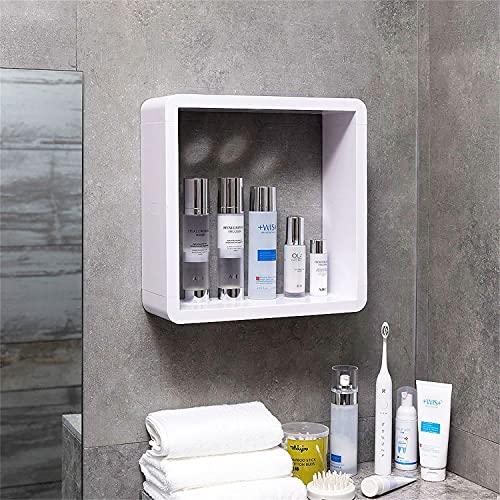 Caja De Almacenamiento De Cosméticos Montada En La Pared Productos para El Cuidado De La Piel No Porosos a Prueba De Polvo Joyero Estante De Baño