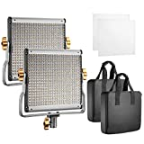 Neewer 2-Pack LED Luz Vídeo Bicolor Regulable con Soporte U Kit, para Foto...